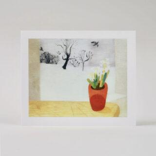 Winifred Nicholson rooks, hyacinth, snow
