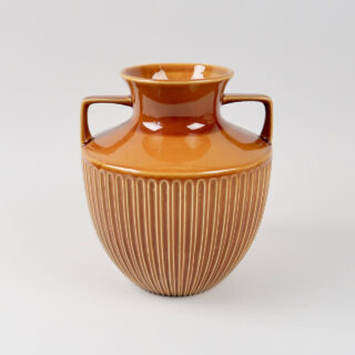 Brown Glazed Vase with Handles by Withernsea Pottery