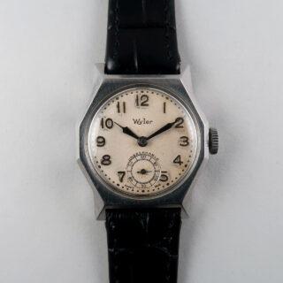 Wyler with Taubert Fils case circa 1935-40   steel hand wound vintage wristwatch