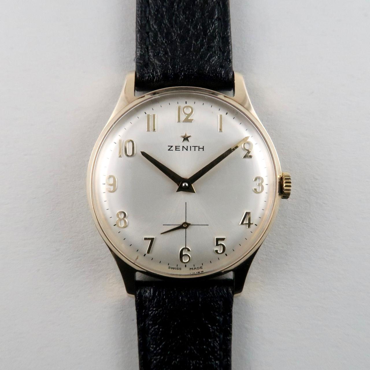 Zenith cal. 2541 gold vintage wristwatch, hallmarked 1971