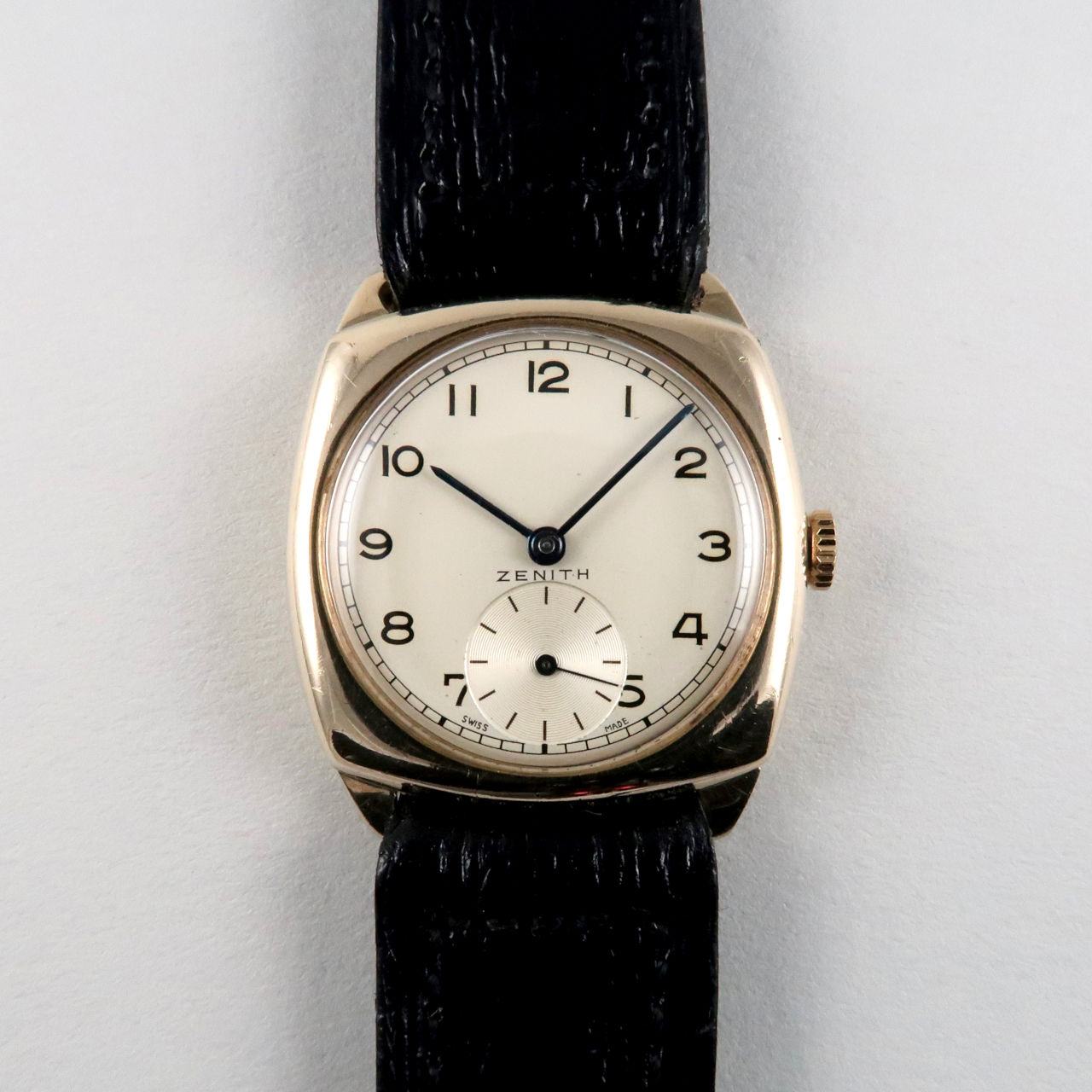 Zenith calibre 106 gold vintage wristwatch, hallmarked 1952