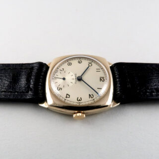 Zenith calibre 106 gold vintage wristwatch, hallmarked 1952
