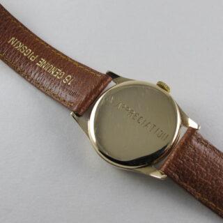 Gold Zenith vintage wristwatch, hallmarked 1949