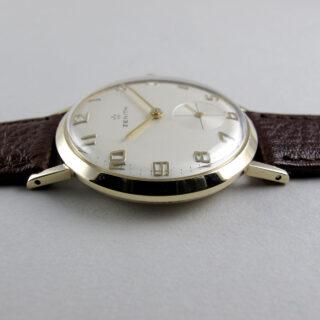 Zenith gold vintage wristwatch, hallmarked 1965
