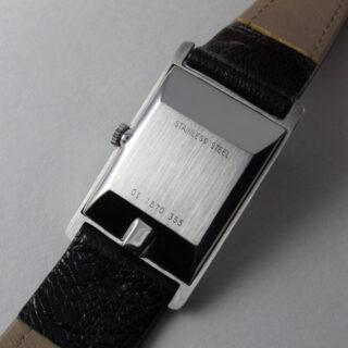 Zenith steel rectangular vintage wristwatch, circa 1980