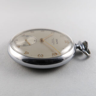 Zenith retailed by Irvine Hindle, Halifax circa 1950 | steel manual pocket watch