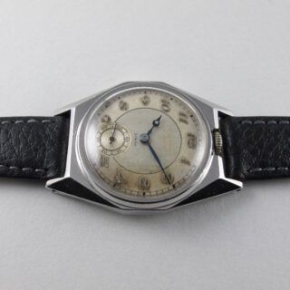Zenith retailed by T. S. Cuthbert, Glasgow, steel vintage wristwatch, circa 1935