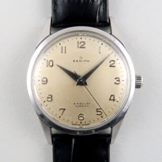 Zenith retailed by W. R. Bullen steel vintage wristwatch, circa 1959