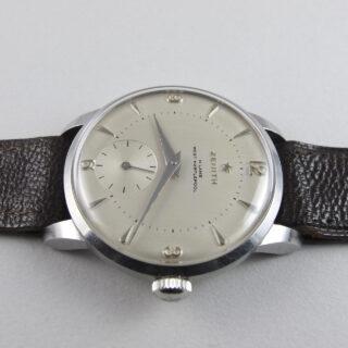 Zenith Sporto retailed by H. Lamb, West Hartlepool, steel vintage wristwatch, circa 1959